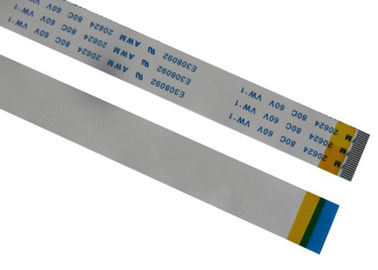 Cina 60V Voltage Flat Ribbon Cable Warna Disesuaikan, 6 Pin Ribbon Cable PVC Insulation pabrik